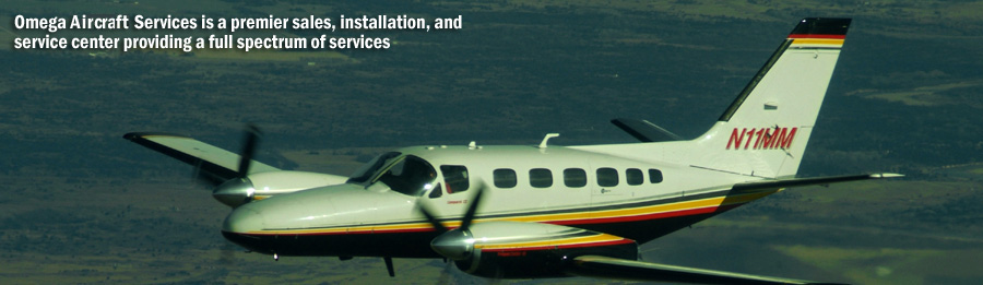Omega Aircraft Services is a premier sales, installation, and service center providing a full spectrum of services